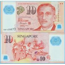 Сингапур 10 долларов 2018 год.
