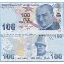 Турция 100 лир 2017 год.