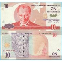 Турция 10 новых лир 2005 год.