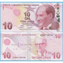 Турция 10 лир 2017 год.