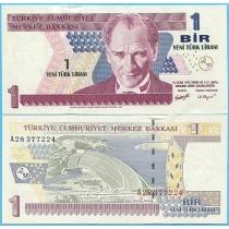 Турция 1 лира 2005 год.