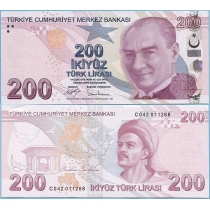 Турция 200 лир 2017 год.