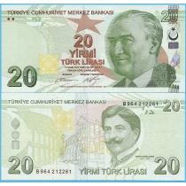 Турция 20 лир 2009 год.