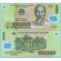 Вьетнам 100.000 донгов 2017 год.