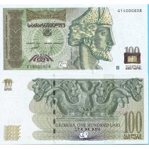 Грузия 100 лари 2008 год.