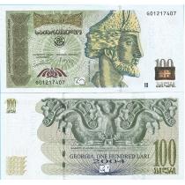 Грузия 100 лари 2004 год.