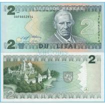 Литва 2 лита 1993 год.
