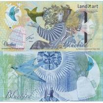Казахстан тестовая банкнота 2013 г. Bluebird - звезда