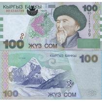 Киргизия 100 сом 2002 год.