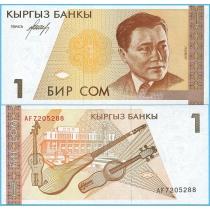 Киргизия 1 сом 1994 год.
