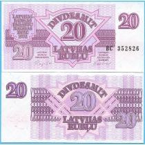 Латвия 20 рублей (рублисов) 1992 год.