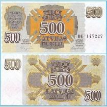 Латвия 500 рублей (рублисов) 1992 год.