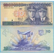 Литва 10 лит 1997 год.