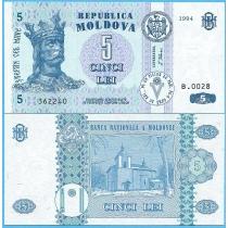 Молдова 5 лей 1994 год.
