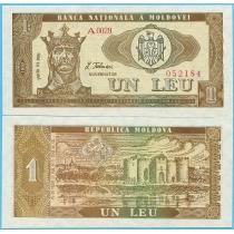 Молдова 1 лей 1992 год.