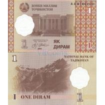 Таджикистан 1 дирам 1999 год.