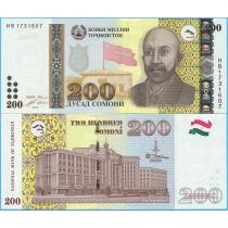 Таджикистан 200 сомони 2010 год.