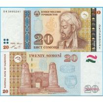 Таджикистан 20 сомони 1999 (2013) год.
