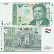 Таджикистан 1 сомони 1999 год.