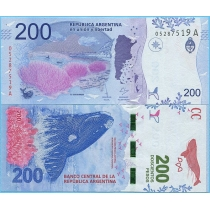 Аргентина 200 песо 2016 год.