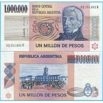 Аргентина 1000000 песо 1982 год.