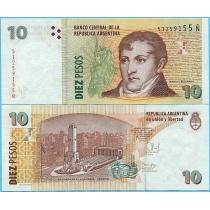 Аргентина 10 песо 2014 год.