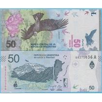 Аргентина 50 песо 2018 год.