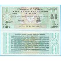 Аргентина 1 аустрал 1988 год. Провинция Тукуман