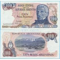 Аргентина 100 песо аргентино 1983 год.