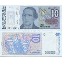 Аргентина 10 аустрал 1988 год.