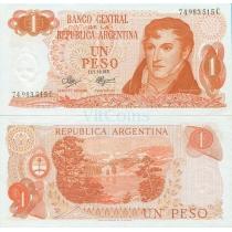 Аргентина 1 песо 1972 год.