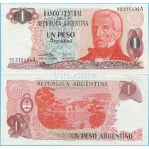 Аргентина 1 песо аргентино 1984 год.