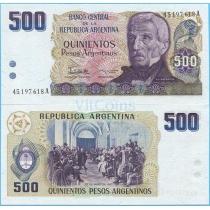 Аргентина 500 песо аргентино 1984 год.