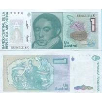 Аргентина 1 аустрал 1988 год.