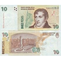 Аргентина 10 песо 2013 год.