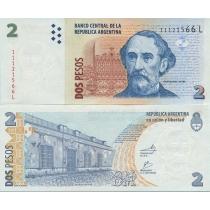 Аргентина 2 песо 2002 год.