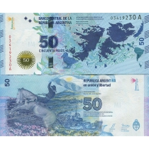 Аргентина 50 песо 2015 г. Мальвинские острова