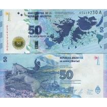 Аргентина 50 песо 2015 год. Мальвинские острова