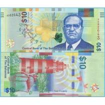 Багамские острова 10 долларов 2016 год.