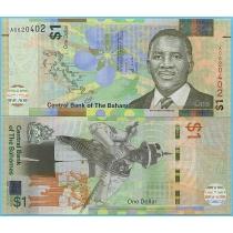Багамские острова 1 доллар 2017 год.
