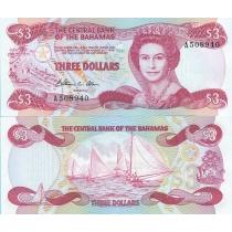 Багамские острова 3 доллара 1984 г.