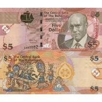 Багамские острова 5 долларов 2007 г.