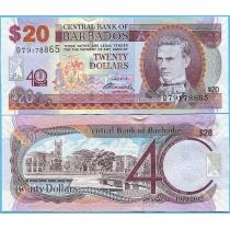 Барбадос 20 долларов 2012 год. Юбилейная.