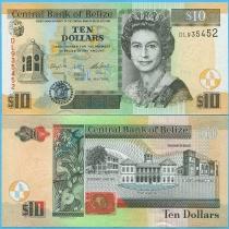 Белиз 10 долларов 2016 год