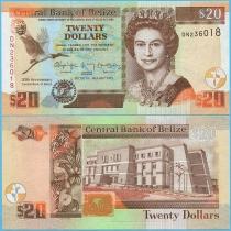 Белиз 20 долларов 2012 год. 30 лет Центробанку