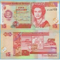 Белиз 5 долларов 2015 год.