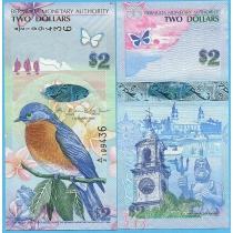 Бермудские острова 2 доллара 2009 год.