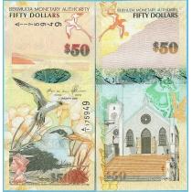 Бермудские острова 50 долларов 2009 год.