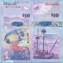 Бермудские острова 10 долларов 2009 год. P-59a.1