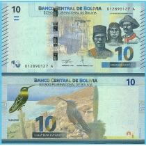 Боливия 10 боливиано 2018 год.